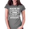 Made In 1986 Womens Fitted T-Shirt