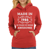 Made In 1986 Womens Hoodie