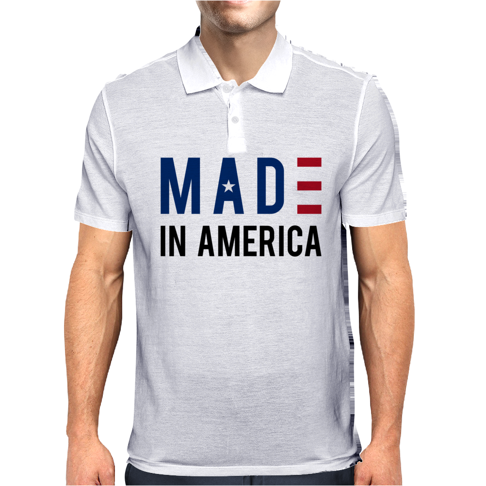 Made in America Stars & Stripes Mens Polo
