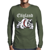 Made In England Bulldog Football Mens Long Sleeve T-Shirt