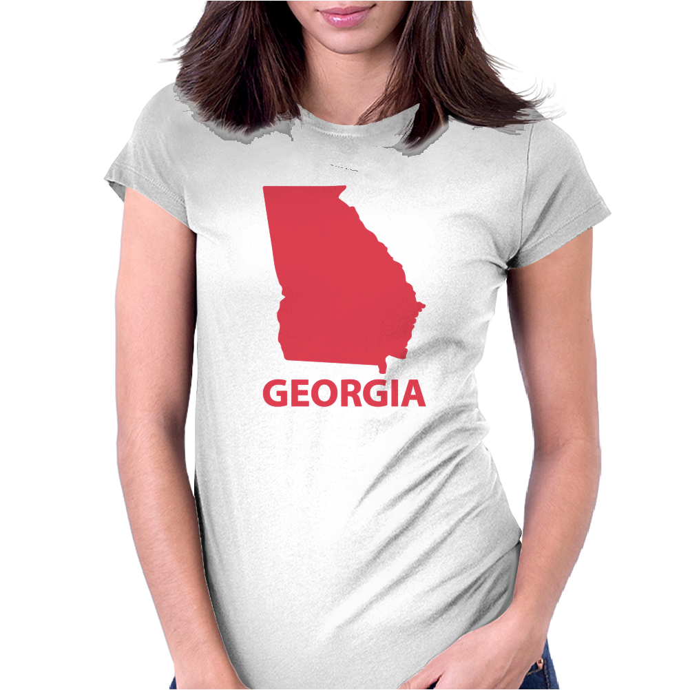 MADE IN GEORGIA Womens Fitted T-Shirt