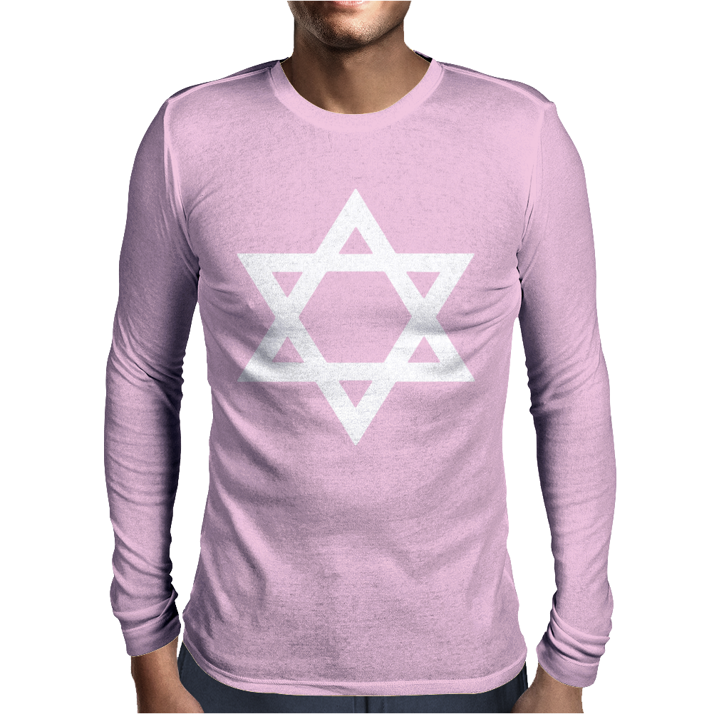 MAGEN DAVID Mens Long Sleeve T-Shirt