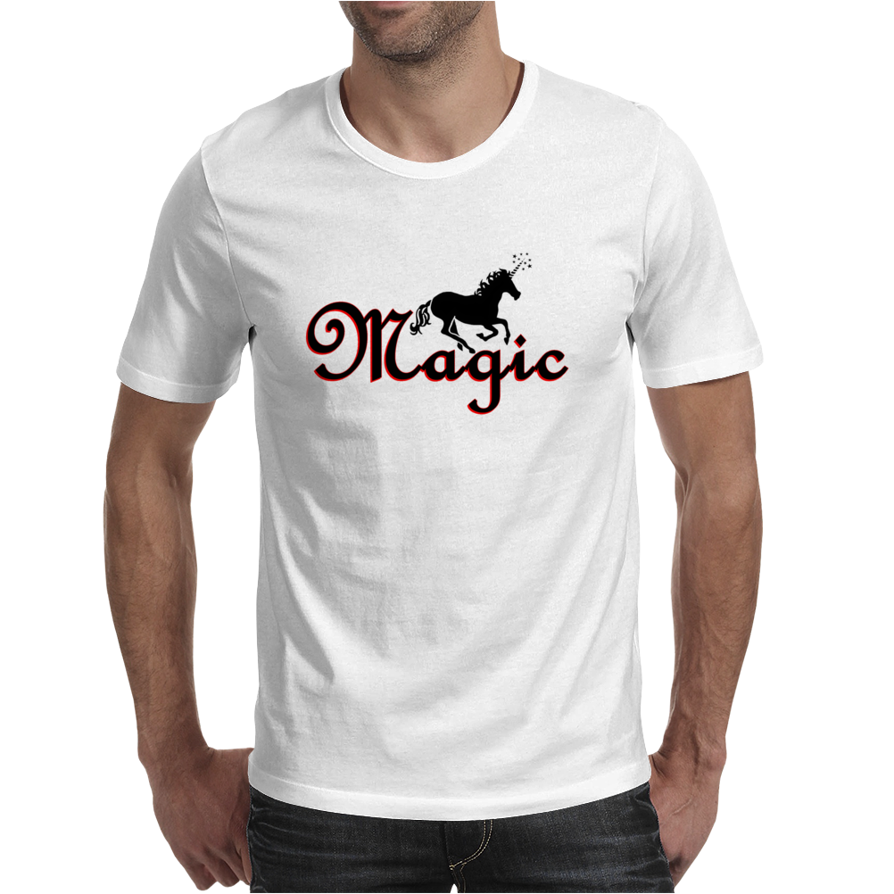 Magic Unicorn Mens T-Shirt