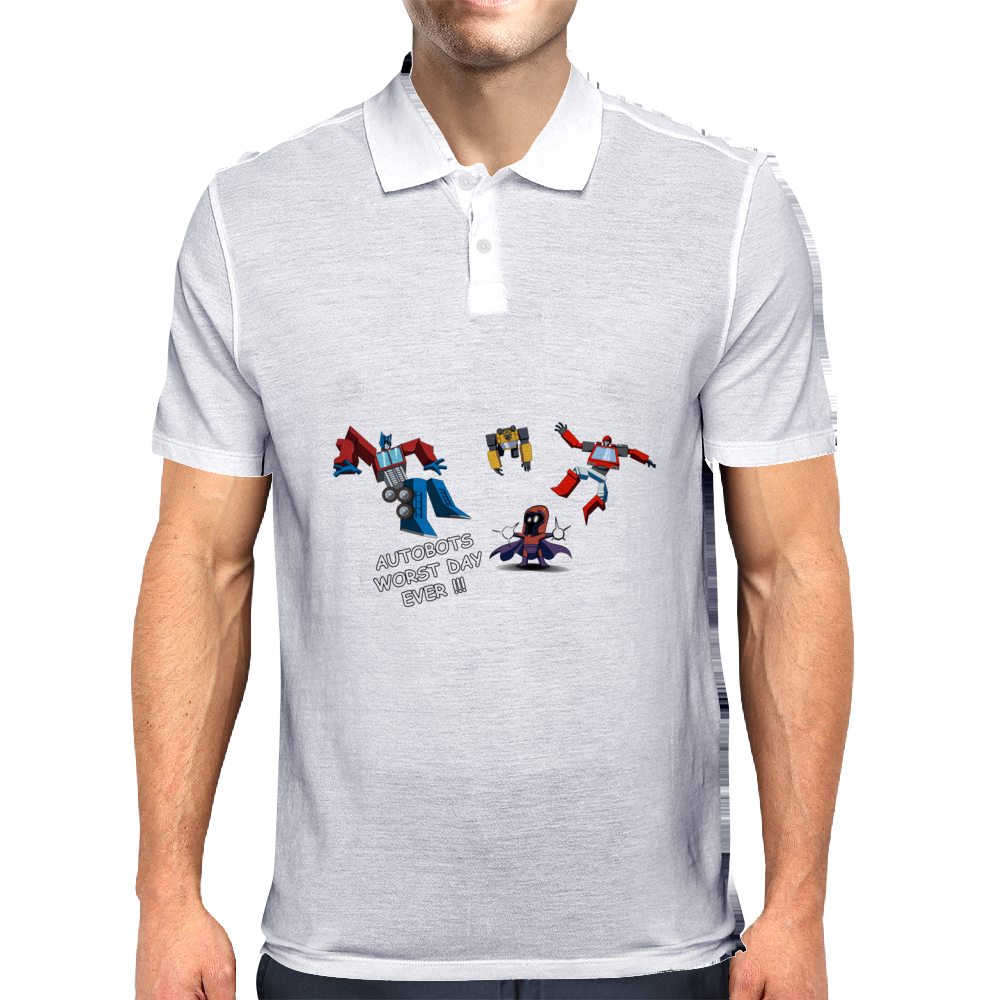 Magneto vs Transformers Mens Polo