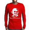Mahatma Gandhi Mens Long Sleeve T-Shirt