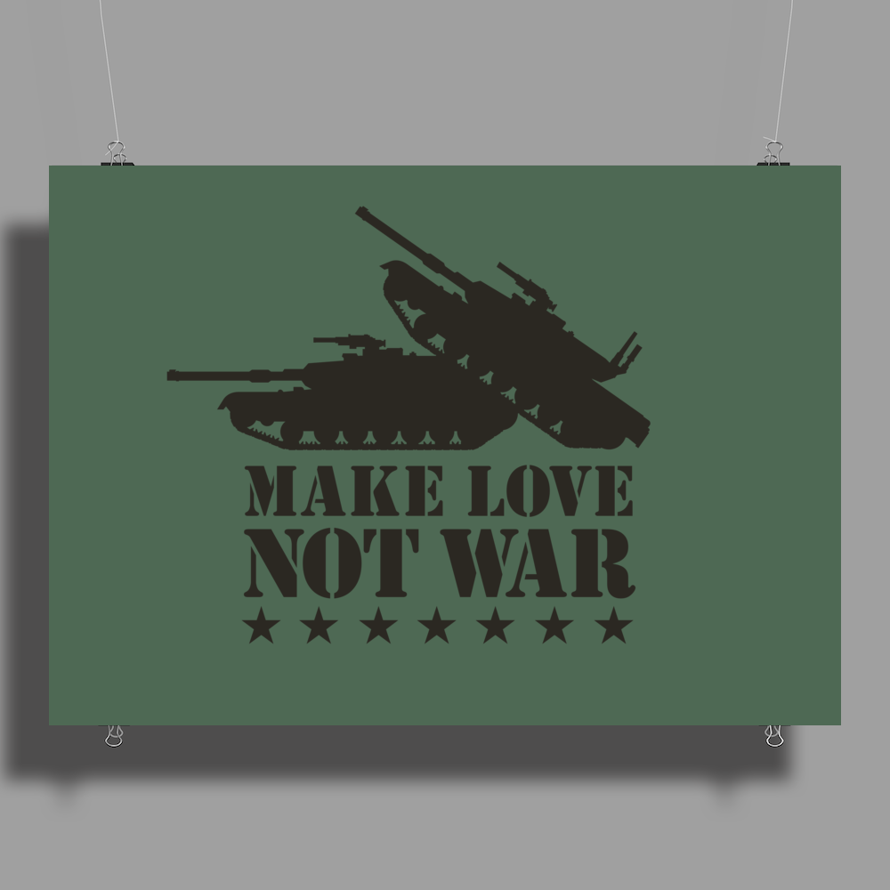 Make love not war Poster Print (Landscape)