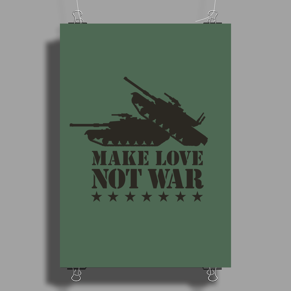Make love not war Poster Print (Portrait)
