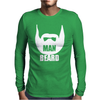 MAN BEARD FUNNY MENS Mens Long Sleeve T-Shirt