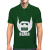MAN BEARD FUNNY MENS Mens Polo