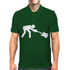 Man Breaking Rock Guitar Mens Polo