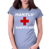 Man Flu Survivor Womens Fitted T-Shirt