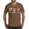 Man Woman Geek Mens T-Shirt