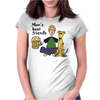 Man's Best Friends are his Beer and Dog Womens Fitted T-Shirt