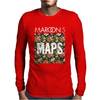 Maps Rock Music Band Mens Long Sleeve T-Shirt