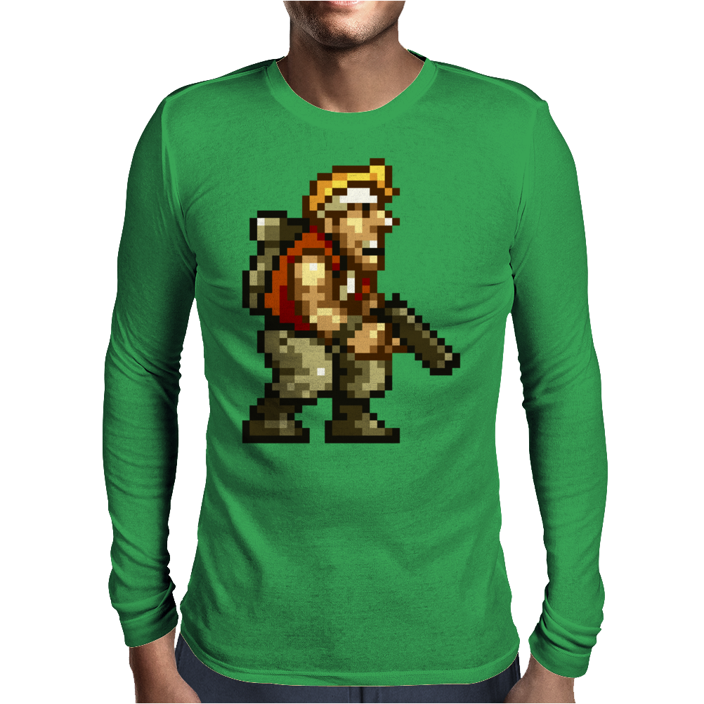 Marco Rossi Pixelart - Metal Slug Mens Long Sleeve T-Shirt