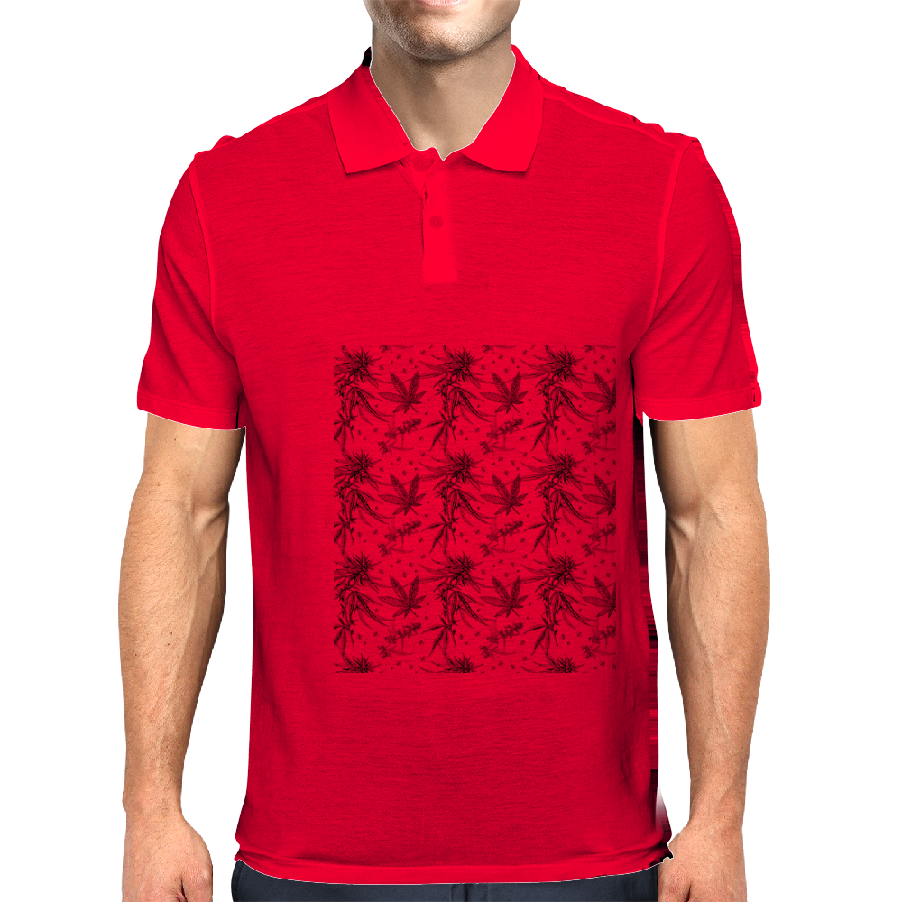 Marijuana Mens Polo