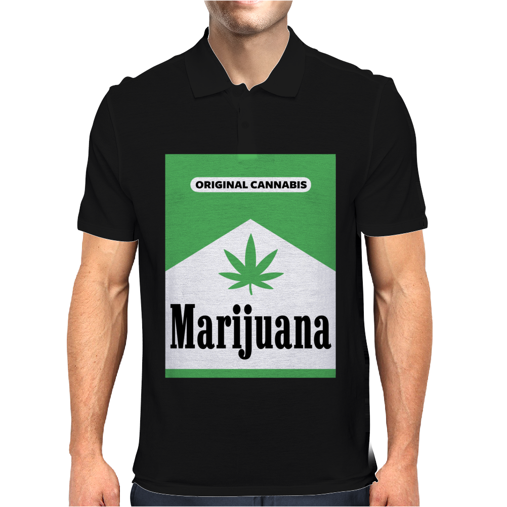 Marijuana, Orignal Cannabis Mens Polo