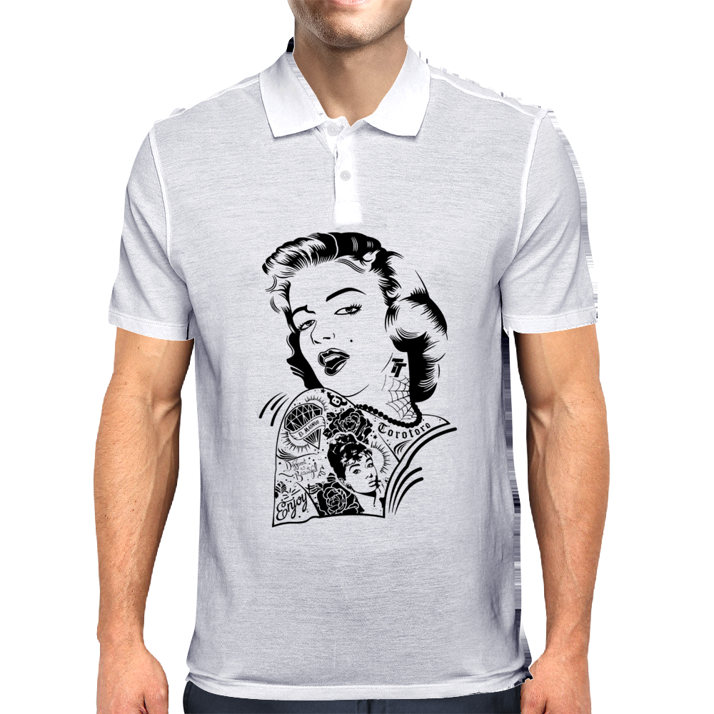 Marilyn Tattoo Mens Polo