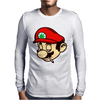 Mario Smoking Marijuana Weed Mens Long Sleeve T-Shirt