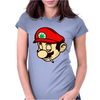 Mario Smoking Marijuana Weed Womens Fitted T-Shirt