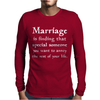 Marriage Mens Long Sleeve T-Shirt