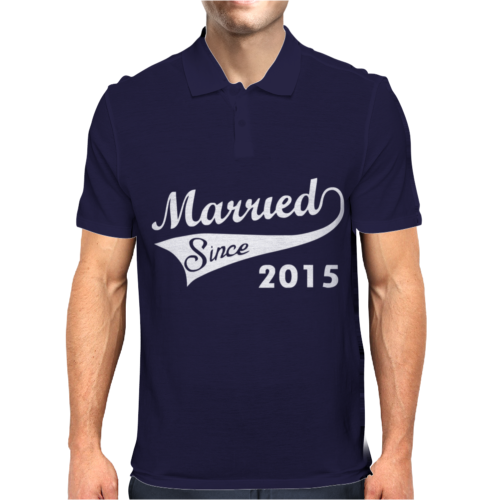 Married Since 2015 - Mens Funny Wedding Marriage Mens Polo