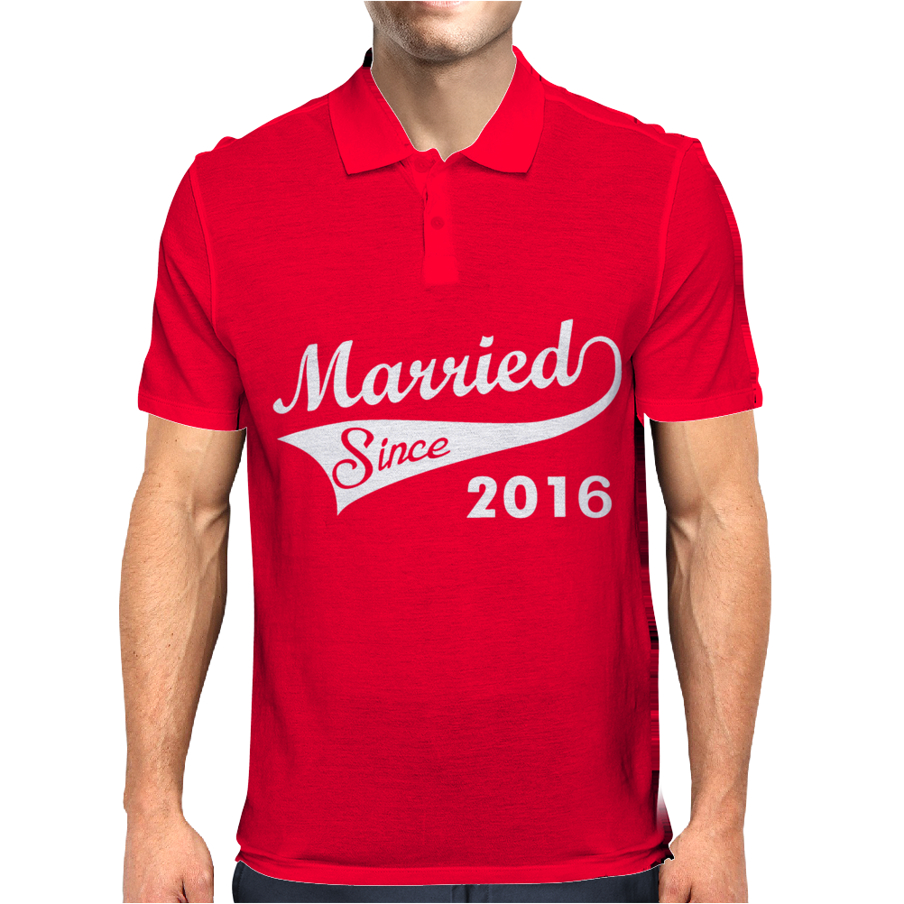 Married Since 2016 Mens Polo