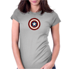 Marvel Captain America Shield Womens Fitted T-Shirt