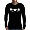 Marvel Mens Costume Uniform Super Hero Captain America Mens Long Sleeve T-Shirt