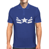 Marvel Mens Costume Uniform Super Hero Captain America Mens Polo