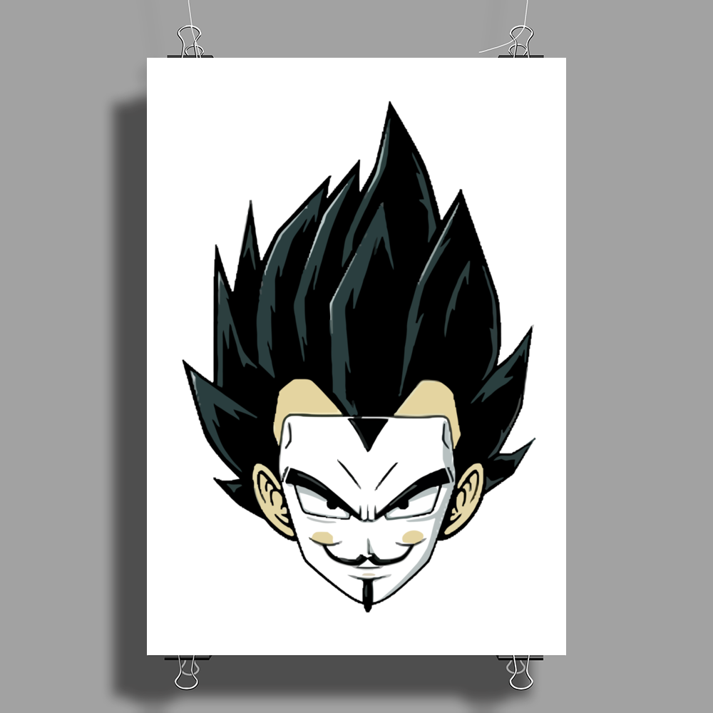 mask man Poster Print (Portrait)