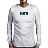 MATH Mens Long Sleeve T-Shirt