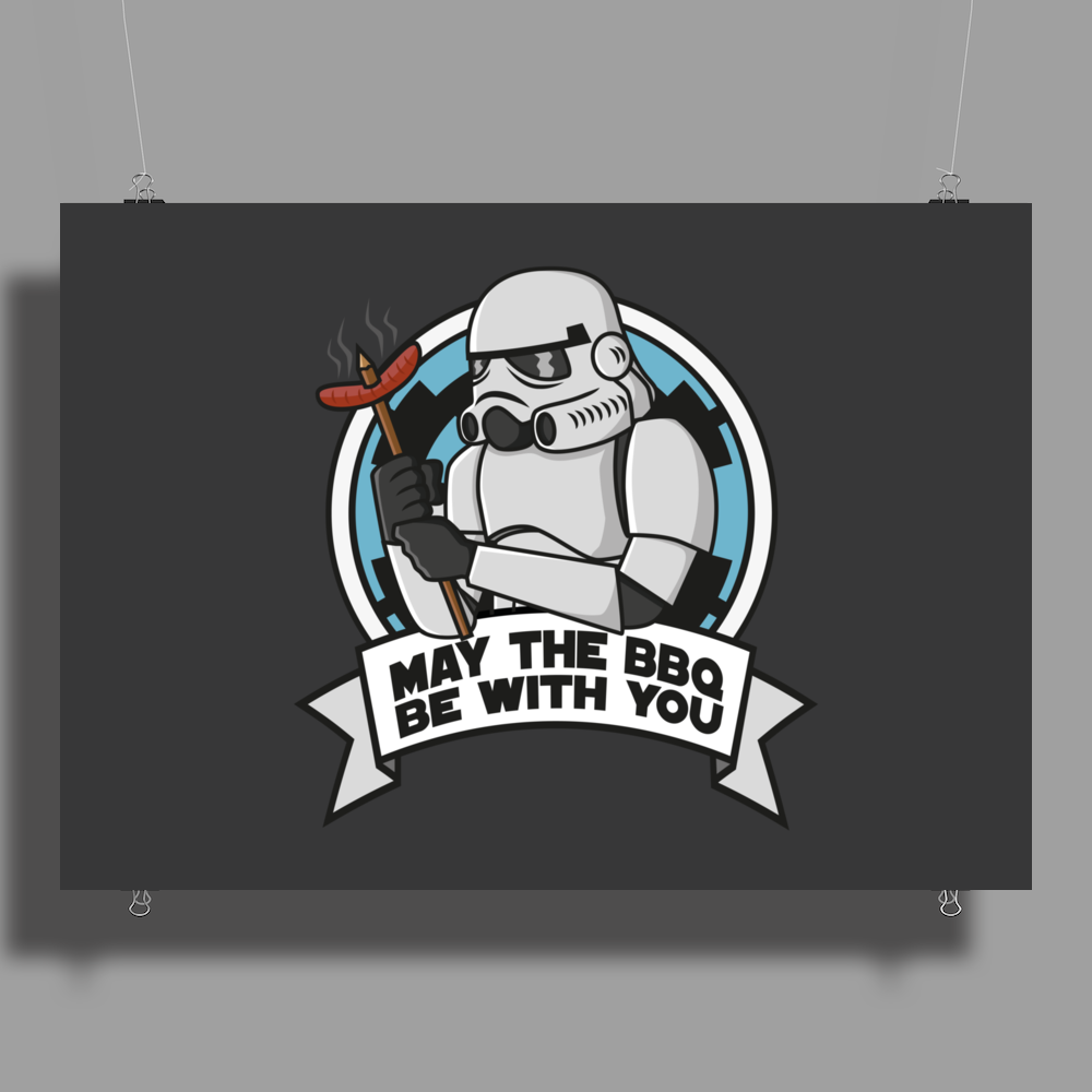 May the BBQ be with you Poster Print (Landscape)