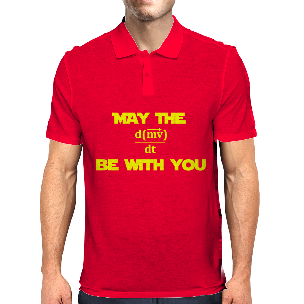 May the Force be With You - Written in Math Mens Polo