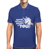 Maybe We Don't Believe In You Unicorn Mens Polo