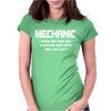 Mechanic Christmas Womens Fitted T-Shirt