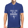 Meet Me At The Barre Ballet Shoes Funny Mens Polo