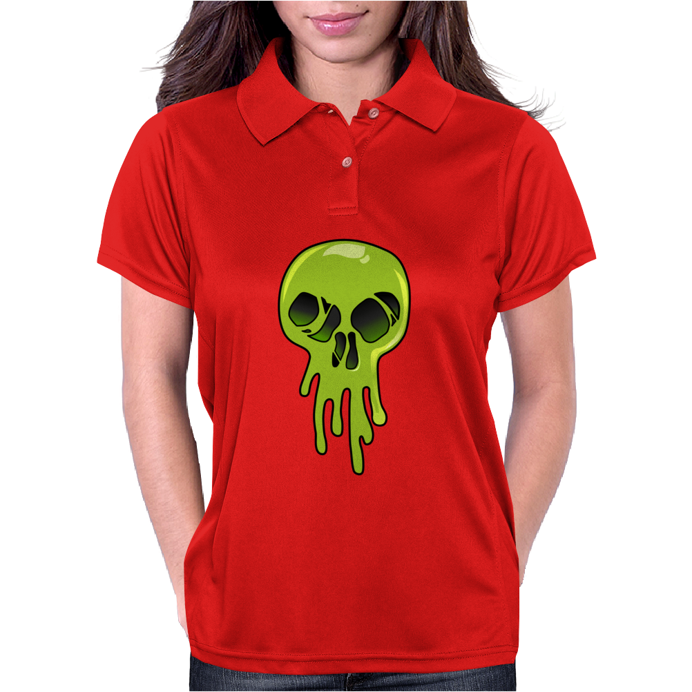 Melting Acid Skull Womens Polo