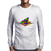 Melting Pyraminx cude Mens Long Sleeve T-Shirt