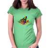 Melting Pyraminx cude Womens Fitted T-Shirt