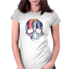 Melting Skull Womens Fitted T-Shirt