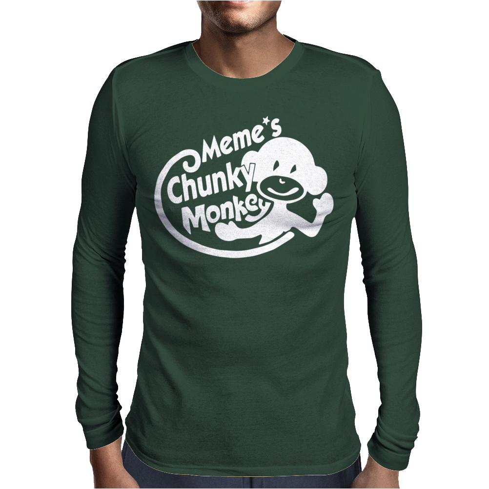 Memes Chunky Monkey Mens Long Sleeve T-Shirt
