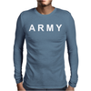 Mens Army Military US Mens Long Sleeve T-Shirt
