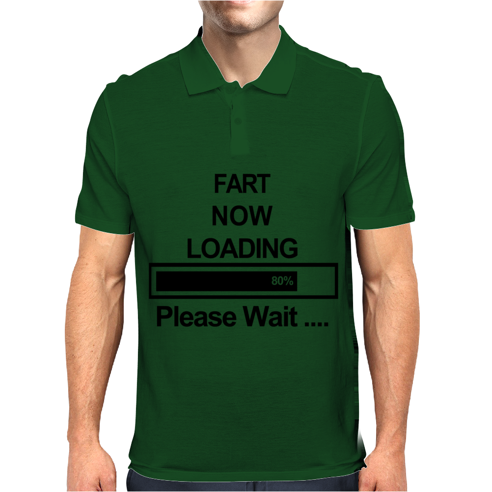 Mens Fart Now Loading Funny Mens Polo