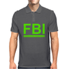 Mens FBI Print Casual Slim Mens Polo