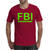Mens FBI Print Casual Slim Mens T-Shirt