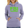 Mens FBI Print Casual Slim Womens Hoodie
