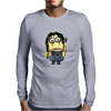 Mens Funny T-Shirt, Alice Cooper Minion, Mens Long Sleeve T-Shirt