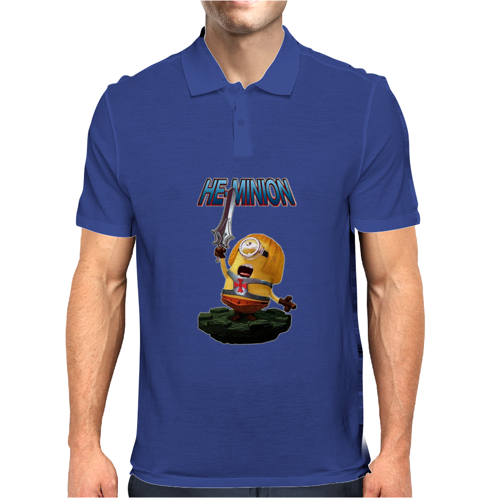 Mens Funny T-Shirt, He-Minion, Ideal Gift or Birthday Present. Mens Polo