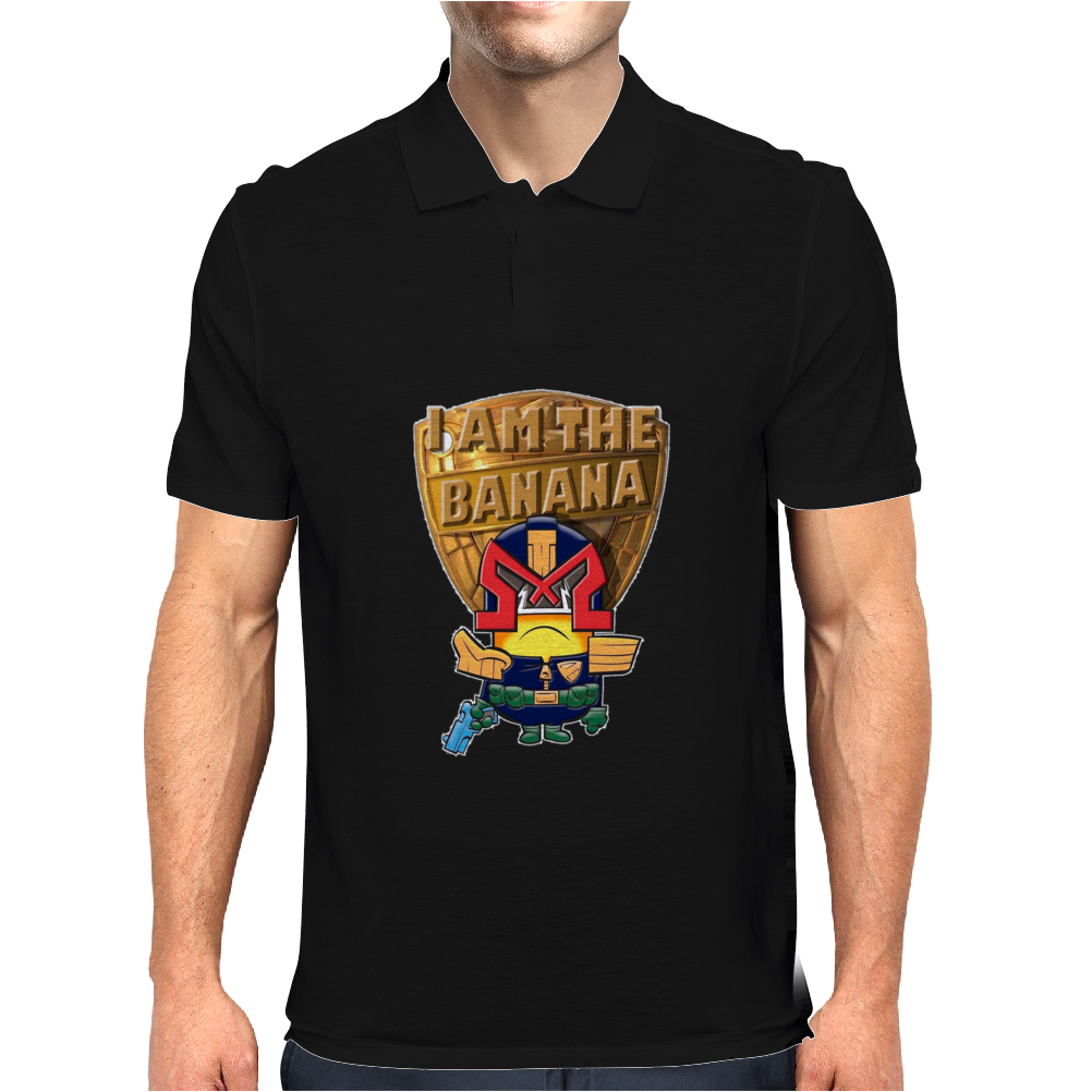 Mens Funny T-Shirt, Judge Dredd Minion, Ideal Gift or Birthday Present. Mens Polo